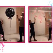Gender reveal verrassing ballon