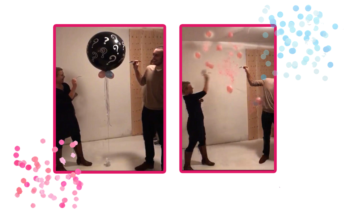 Mensen gender reveal ballon